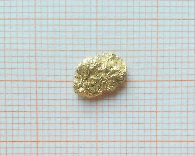 0.59 GRAMS 22ct NATURAL PURE GOLD NUGGET PEPITA D'ORO PEPITE D'OR