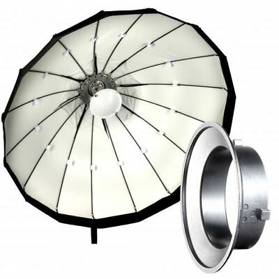 120cm White Folding Beauty Dish / Softbox to fit Lencarta / Bowens Studio Flash