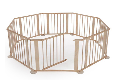8 Side Baby Child Wooden Foldable Playpen Play Pen Room Divider Heavy Duty New