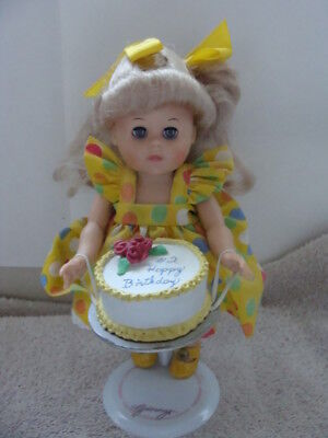 Vogue Dolls Made With LOVE- **GINNY** Birthday Girl with CAKE + original stand