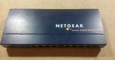 NETGEAR FS108P Prosafe 8 Port 10/100 POE Switch