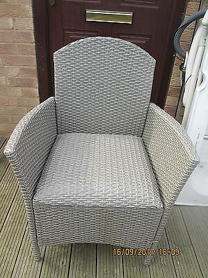 Great Condition - Commode - Grey Wicker Effect Pattern