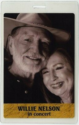Willie Nelson authentic concert tour Laminated Backstage Pass rare collectible