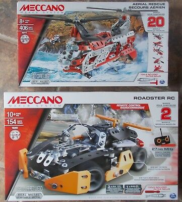 Meccano Roadster RC Maker System 2 Models ~ NEW Real Metal 16303