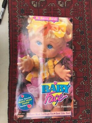 Baby Face Doll SO SORRY SARAH 1990 No.6 Excellent BOX opened doll never removed