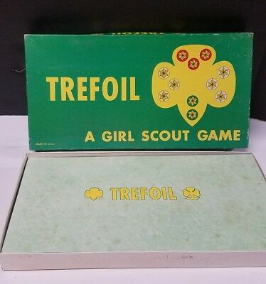 Girl Scout - 1966 Trefoil - A Girl Scout Game - Unused Unpunched
