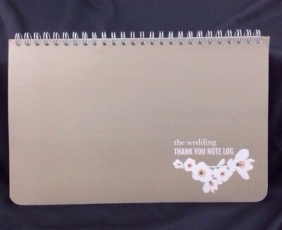 NEW Wedding Thank You & Gift ORGANIZER LOG NOTEBOOK Smudge Ink Stationary A MUST