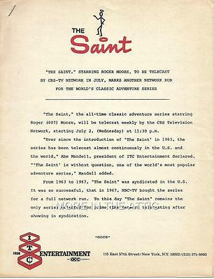 Roger Moore Of James Bond Fame Original Itc Letterhead To The Saint