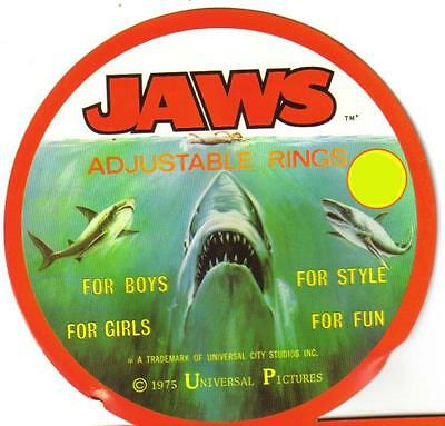Universal Pictures Original Jaws Licensed Toy Ring Gold Version Mint Horror