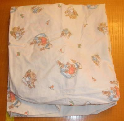 Beatrix Potter Peter Rabbit cream fitted Crib Sheet