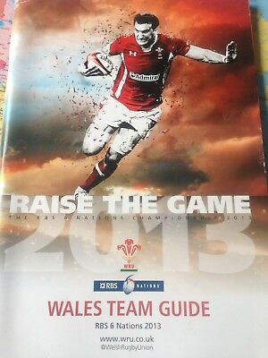 Wales rugby team media guide for 2013 Six Nations championship which they won