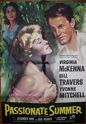 BILL TRAVERS VIRGINIA McKENNA PASSIONATE SUMMER ORIGINAL UK ONE SHEET