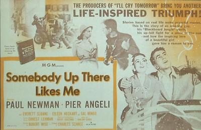 Paul Newman Pier Angeli Somebody Up There Likes Me Boxing U.s. Herald Unused