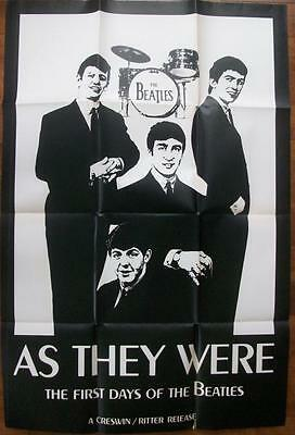 Rare Canadian Issued Indy Bio Pic The Beatles As They Were One Sheet Poster