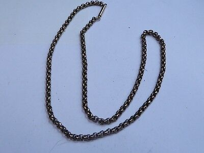 victorian pinchbeck gold plated necklace chain