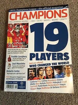 UEFA Champions League Official Magazine August/September 2005 Liverpool Istanbul