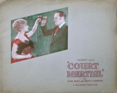 Betty Compson Jack Holt Court Martial Orig Civil War Uk Program Book