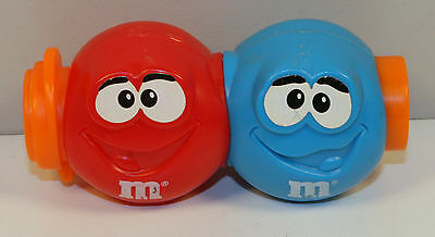 "3.5"" Blue & Red M&M's Burger King Noise Making Slider Figure Toy"