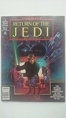 Marvel Super Special # 27  -Nm  Star Wars The Return Of The Jedi  $2.50   1983