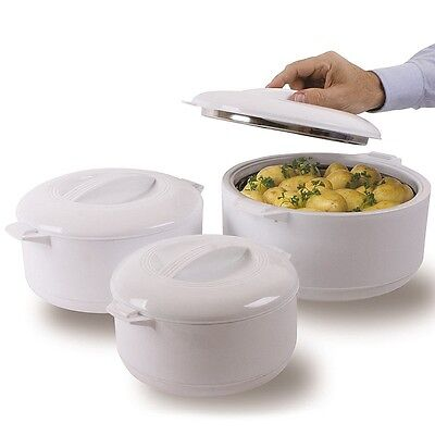 Set of 3 Insulated Food Warmer Servers (BBQ, Picnic, Dinner Party)
