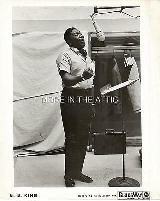 Blues Guitarist B.b. King Original Vintage Studio Portrait Still #3