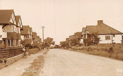 Surrey Banstead Buff Avenue Houses & Bicycle By Fence Photo Card