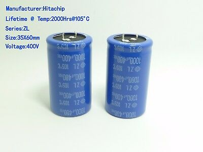 1PCS X 1000uF 400V Snap In Mount Electrolytic Capacitor 400 Volts 1000mfd 400VDC