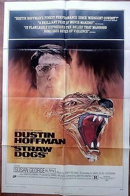 Sam Peckinpah Dustin Hoffman Orig Straw Dogs Syle D Us One Sheet Poster