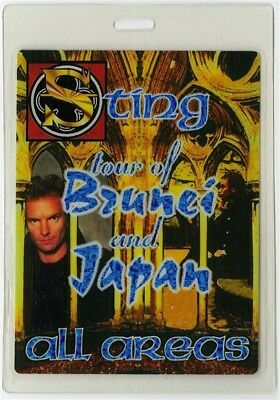 Sting authentic 1996 Laminated Backstage Pass Mercury Falling Tour Police AA