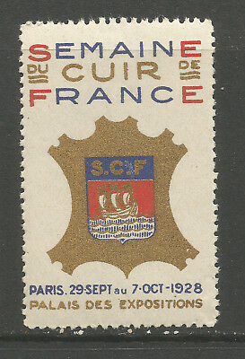 France/Paris 1928 French Leather Week poster stamp/label