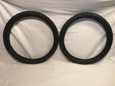 "Schwinn Scrambler Vintage Bicycle Tires  BMX 20"" x 1 3/4"" 1970's S2 Used"