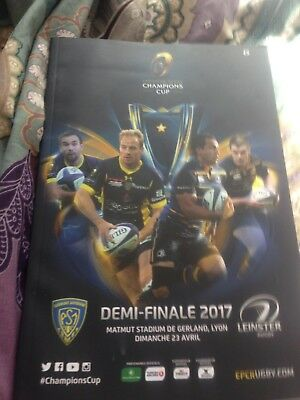 Leinster v Clermont European Champions Cup semi-final rugby programme April 2017