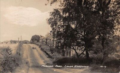 Surrey Lower Kingswood Mogador Road Car On Hill & Houses Photo Card