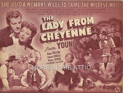 Loretta Young Is The Lady From Cheyenne Orig Universal Pictures Style B Herald