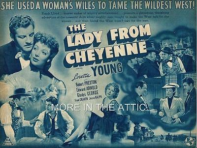 Loretta Young Is The Lady From Cheyenne Orig Universal Pictures Style A Herald