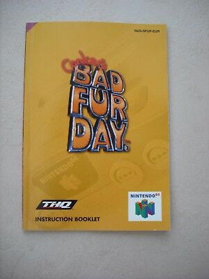 Conkers bad fur day Nintendo n64 instruction book / manual only VGC