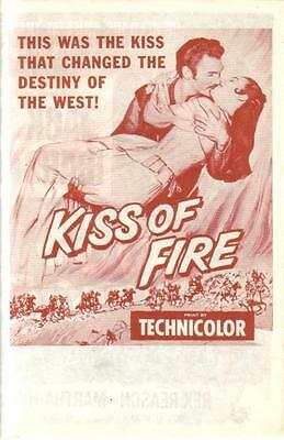 Jack Palance Barbara Rush Kiss Of Fire Orig Universal Pictures Us Movie Herald