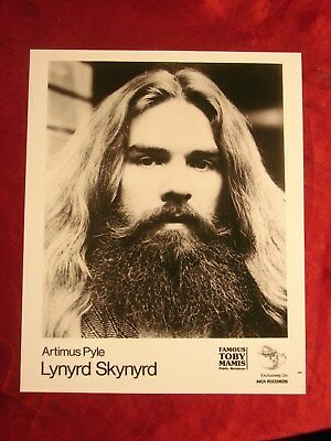 ARTIMUS PYLE PROMOTIONAL PHOTO FROM MCA RECORDS by TOBY MAMAS * LYNYRD SKYNYRD