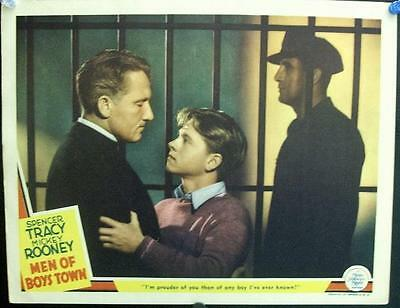Spencer Tracy Mickey Rooney Men Of Boys Town Original Mgm Us Lobby Card