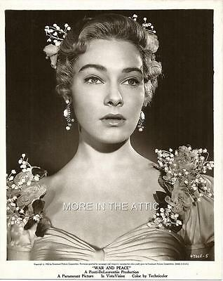 Glamourous May Britt Original Vintage War And Peace Portrait Still