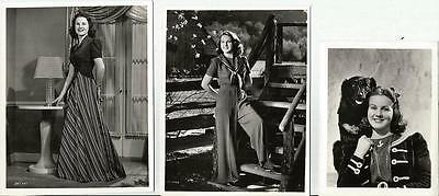 Lovely Assortment Of 3 Small Portrait Photos Of Deanna Durbin Universal Pictures