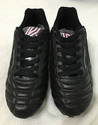 Umbro Soccer Football Youth Shoes Cleats Black/pink/white Sz 6