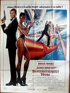 Roger Moore Is James Bond Original A Vew To A Kill French One Panel Poster