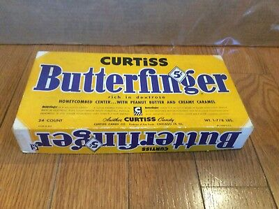 1950 Curtiss Butterfinger Retail Candy Box Empty 5 Cent Vintage Advertising