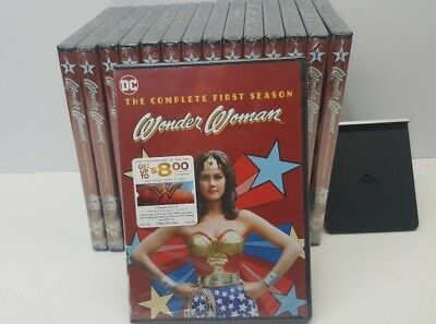 Lot of 15 Wonder Woman Complete First Season on DVD - Brand New