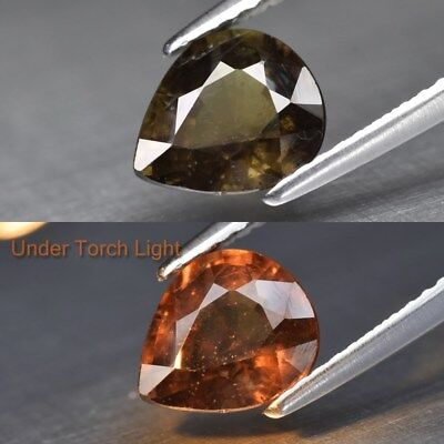 1.76ct 7.8x6.8mm Pear Natural Unheated Color Change Garnet, Africa