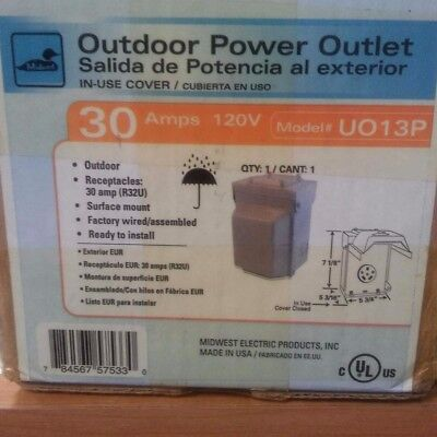 Midwest Electric UO13P  30 AMP 120V Outdoor Power Outlet