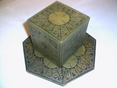 Hellraiser Puzzle Box  With A Round Top And Antique Gold Finish