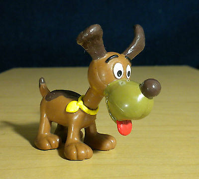"Smurfs Brown Puppy Smurf Smurflings Pet Dog Vintage 2"" Toy Figure Applause 20405"