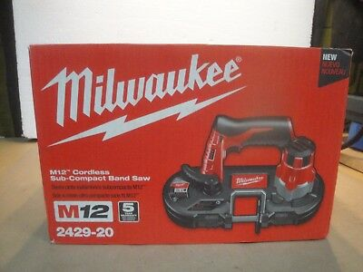 Milwaukee 2429-20 M12 Cordless Sub-Compact Band Saw (Tool Only) New  3T